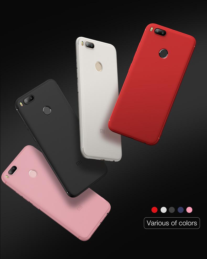 Силиконовый чехол для Xiaomi Mi A1 - разные цвета