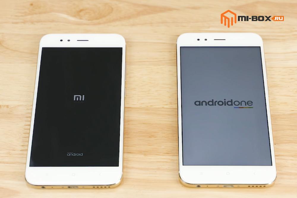 Сравнение Xiaomi Mi A1 и Xiaomi Mi 5x - окно загрузки