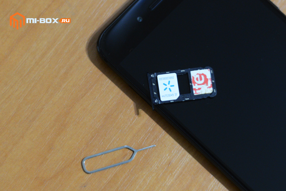Как установить sim-карту в Xiaomi Mi A1