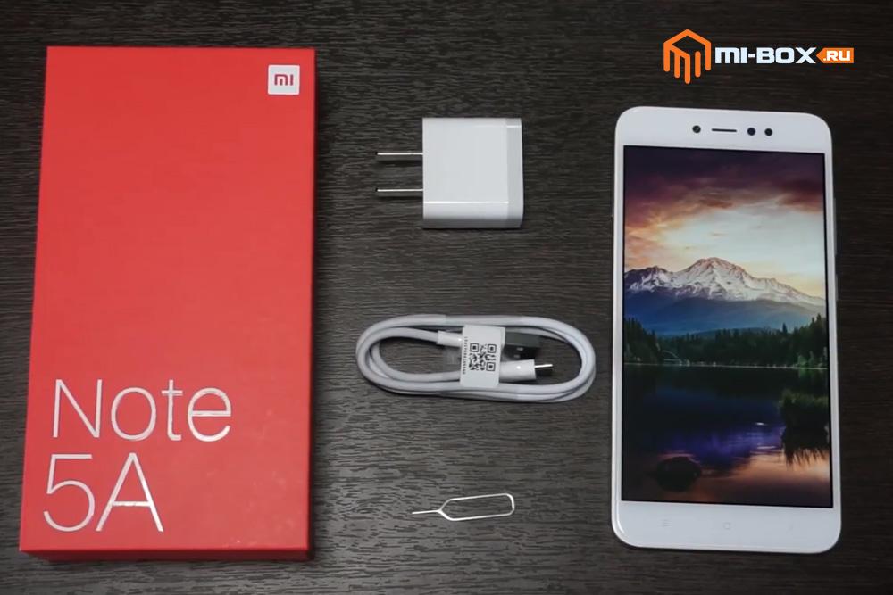 Обзор Xiaomi Redmi Note 5a Prime - комплектация