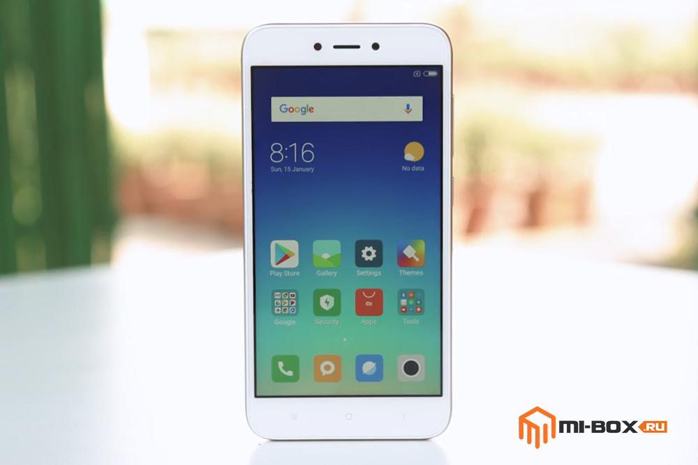 Обзор Xiaomi Redmi 5a - передняя сторона