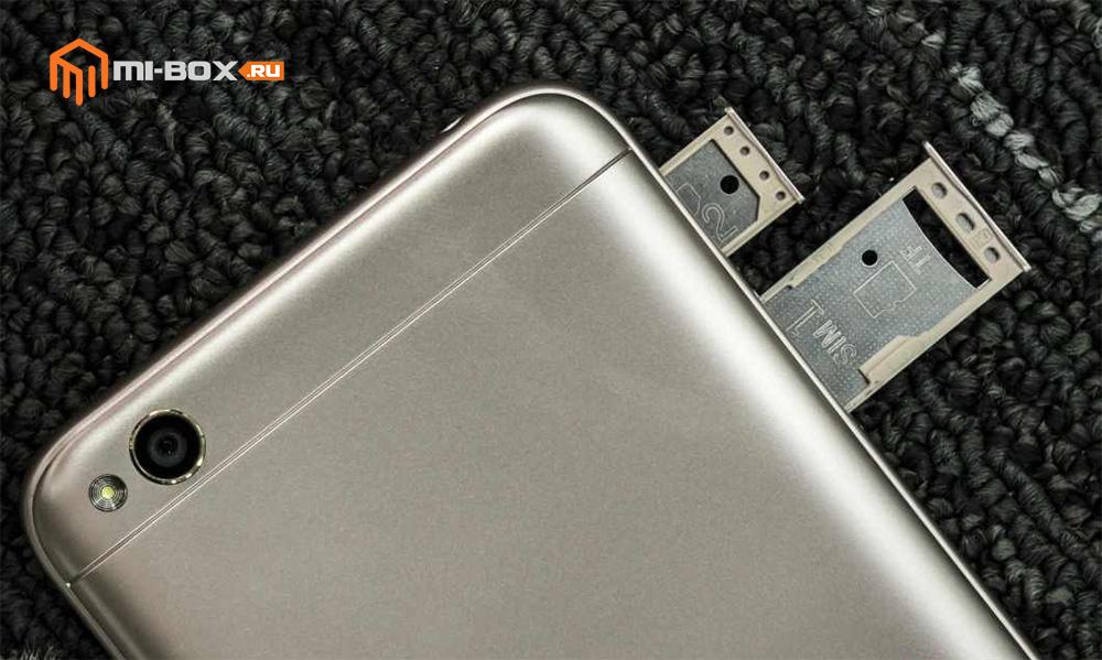 Xiaomi Redmi 5a - открытые слоты для карт