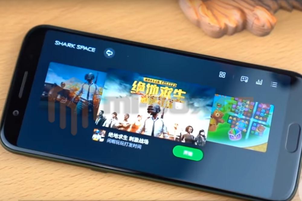 Смартфон Xiaomi Black Shark - передняя сторона