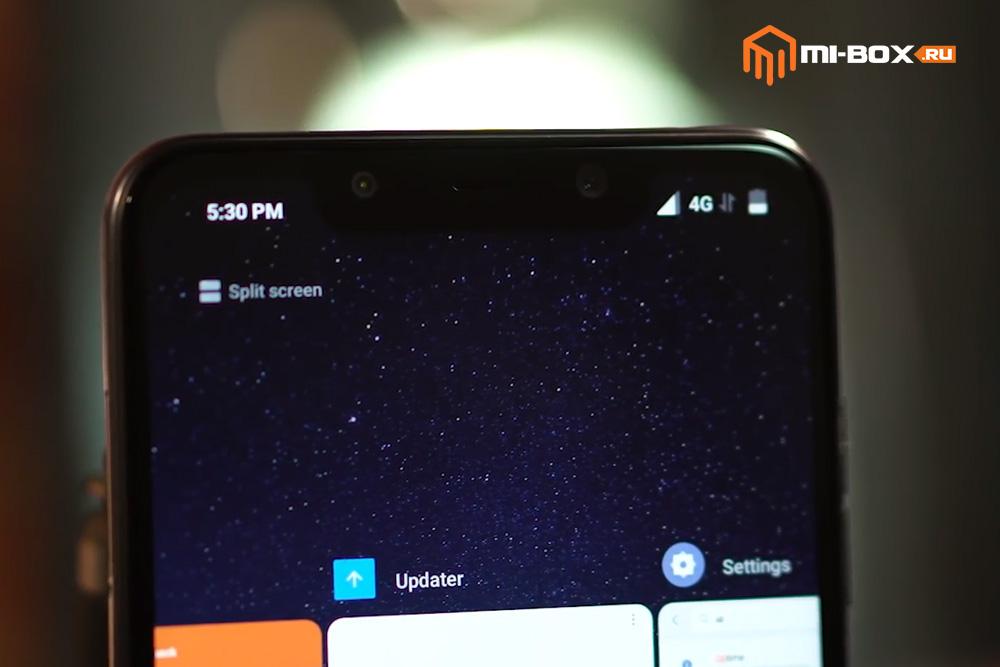 Обзор Xiaomi Pocophone F1 - фронтальная камера и сканер лица