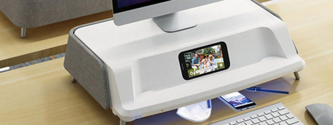 Xiaomi представила умную подставку под монитор со стерилизатором